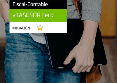 Iniciación a la aplicación de contabilidad y fiscalidad con a3ASESOR | eco