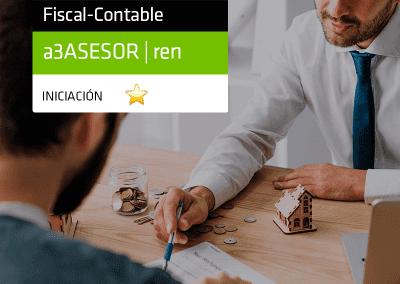 Software Renta y Patrimonio: Formación impuesto de la renta con a3ASESOR | ren Ejercicio 2019