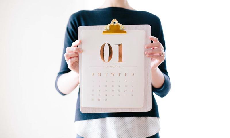 Configura el calendario de tu software para 2020