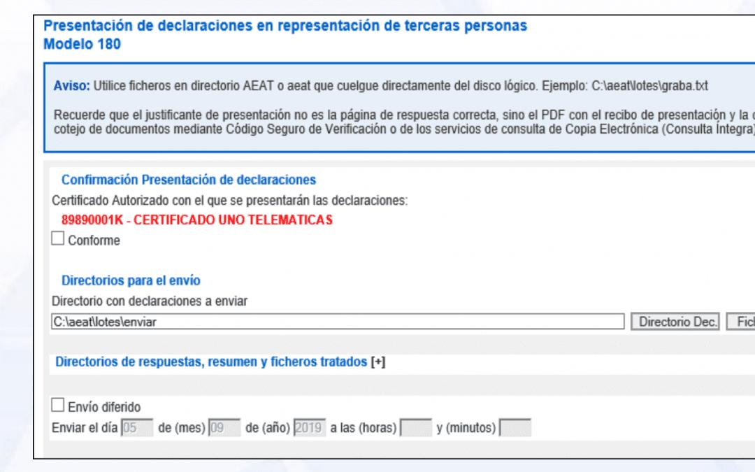 Presentación por lotes de impuestos a la AEAT en 2020: cómo puedo hacerlo ahora que se ha eliminado la presentación por lotes